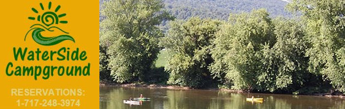 WaterSide Campground Lewistown Pennsylvania 17044 Juniata River Valley Camping